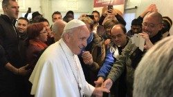 Pope Francis visits First Aid Station, St Peter's Square