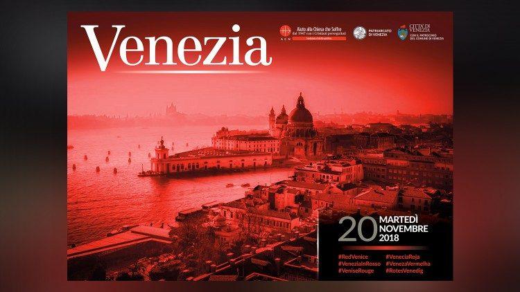 """""""Venezia màu đỏ"""" liên đới với các tín hữu Kitô bị bách hại"""