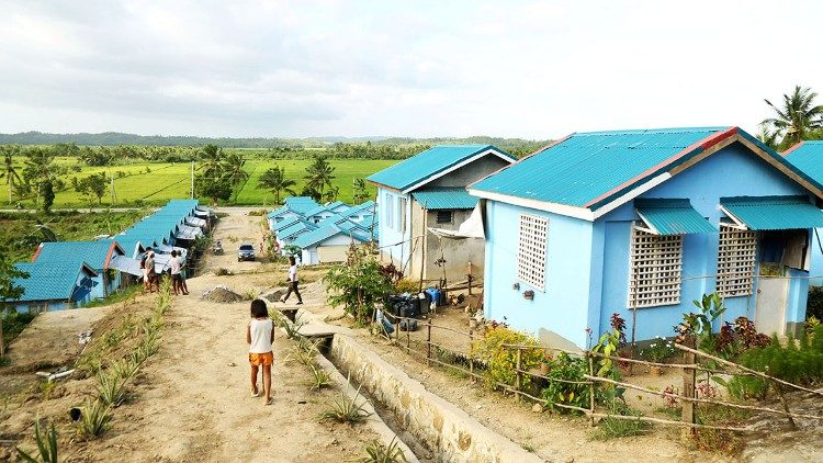 Caritas village Basey, Samar, home to more than 50 families