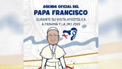 Harmonogram návštevy pápeža Františka v Paname 23.-28. jan. 2019