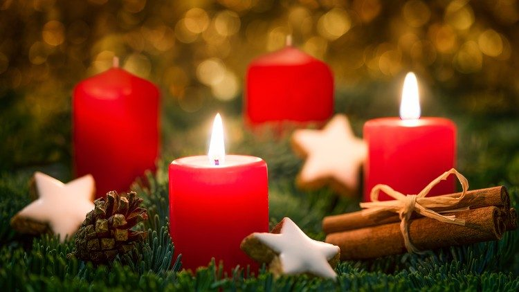 2018.11.29 corona di Avvento, seconda domenica di Avvento, due candele