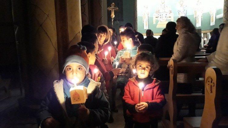 Candele per la pace in Siria