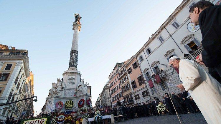 Papa Francisco - Imaculada Conceição, Praça de Espanha