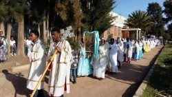 Une procession mariale dans les rues d'Asmara, capitale de l'Érythrée (photo d'illustration).