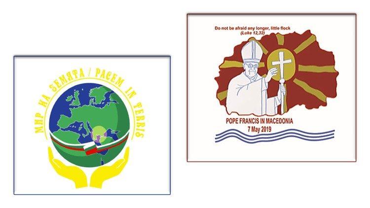 Les logos de ce voyage apostolique   à gauche pour la Bulgarie, à droite  pour d88bae170df