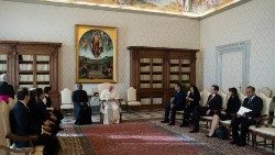 Pope with the International Commission against death penalty