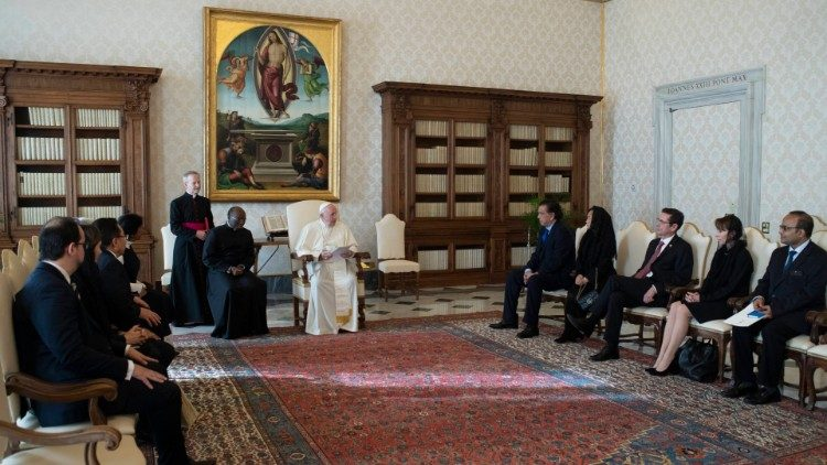 Pope Francis meets members of the International Commission against the Death Penalty