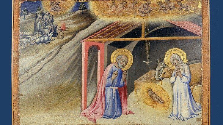 Anuncio de los pastores, Sano di Pietro, 1450-1455 ca.