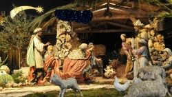 Christmas crib 2018 in St. Peter's Basilica in the Vatican.