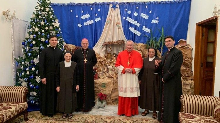 2018.12.25 visita di Natale del Card. Parolin in Iraq.