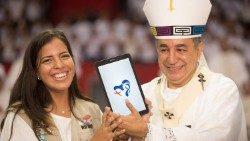 Panamá: un logo con el corazón de María y la Cruz de la JMJ