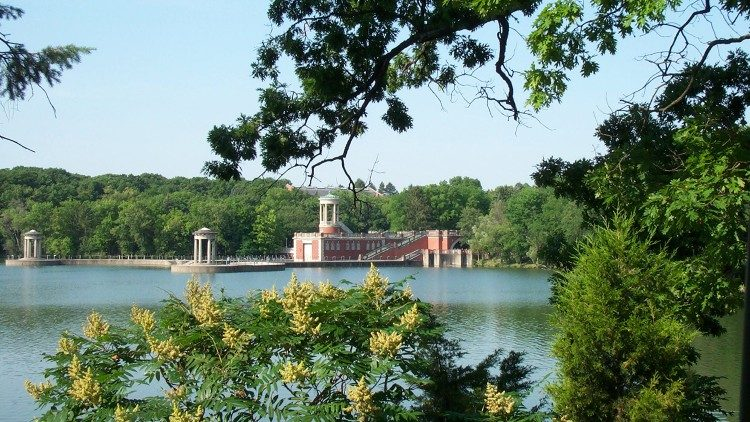 Part of the grounds of the University of St Mary of the Lake, Mundelein, Illinois