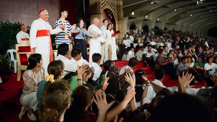 St. John Paul II at the World Youth Day in Manila, the Philippines, in January, 1995.