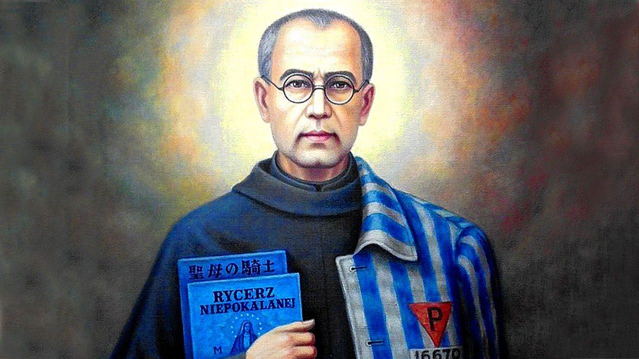 San Massimiliano Kolbe, il martire dell'amore nel male di Auschwitz.