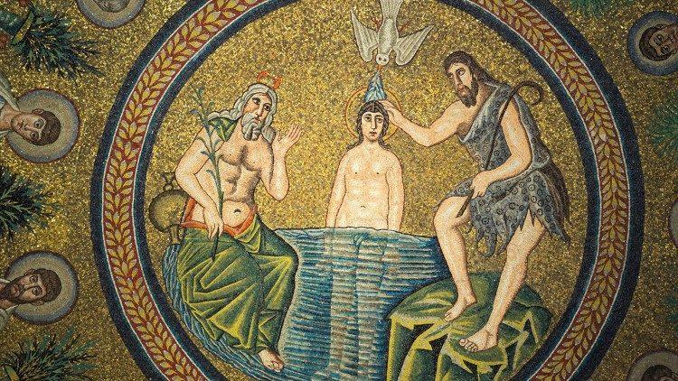 Resultado de imagem para imagem do batismo de jesus no vaticano