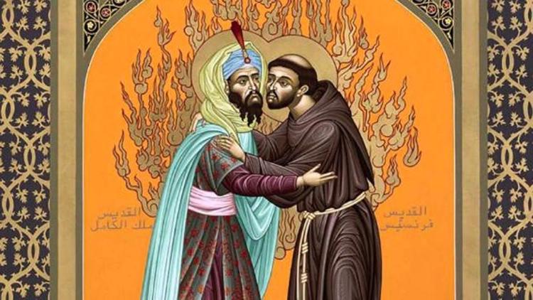San Francesco d'Assisi incontra il Sultano d'Egitto AL-Kamil nell'anno 1219