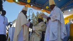 Kenya's New Archbishop of Kisumu, Philip Anyolo at the the installation