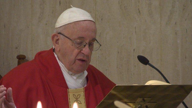 Pope at Mass at Santa Marta, Vatican, January 21, 2019.