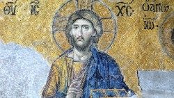 The merciful Christ - an ancient mosaic art