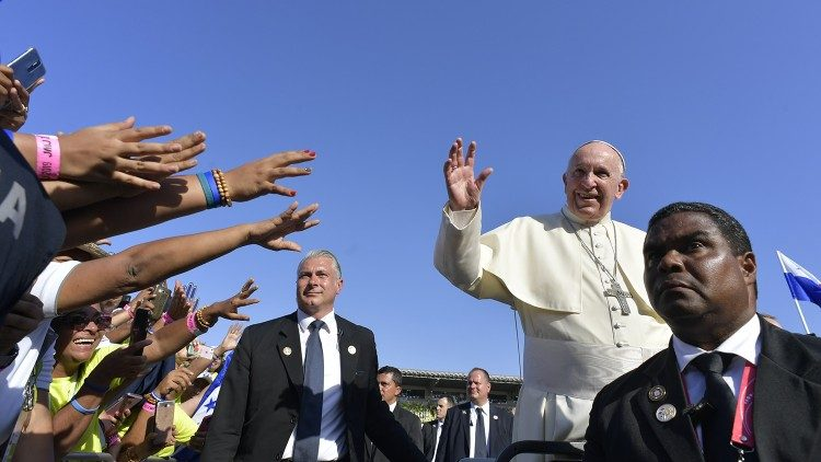 Pope Francis in Panama during his Apostolic journey in 2019