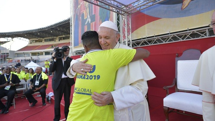Pope Francis during World Youth Day in Panama in January 2019