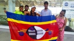 Young pilgrims from Swaziland