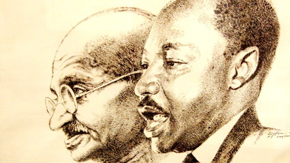 Martin Luther King y Mahatma Gandhi