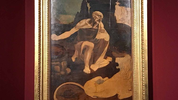 Леонардо да Винчи, «Святой Иероним в пустыне»