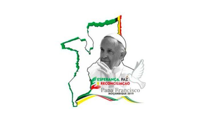 Logotipo da Viagem Apostólica a Moçambique