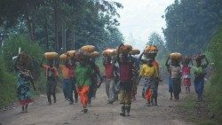 Displaced persons in Masisi, North Kivu, in the east of the Democratic Republic of Congo