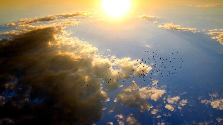 2019.03.28 tramonto, cielo, nuvole, ambiente, natura