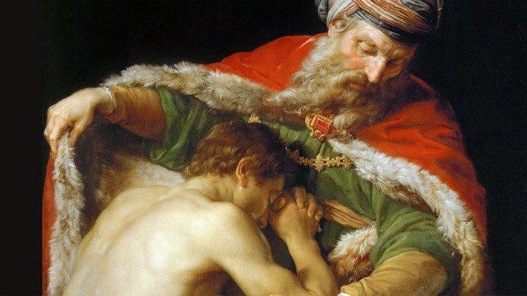 O Pai misericordioso que acolhe o filho arrependido