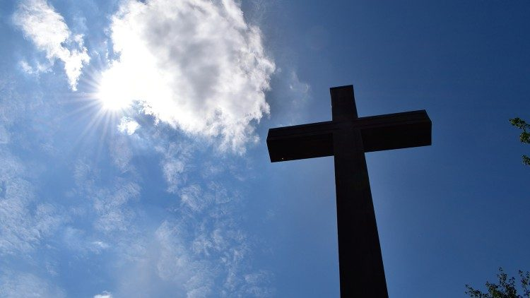 A cross against a blue sky