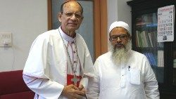 Card Gracias (L) and Maulana Mahmood A. Madani.