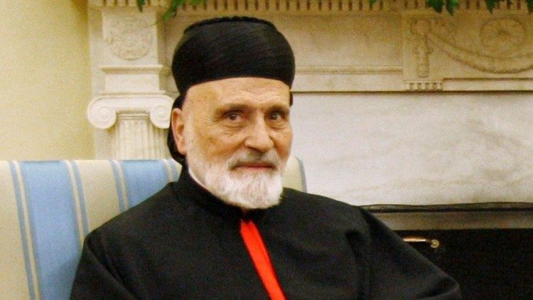 Cardinal Patriarch Nasrallah Pierre Sfeir Condoling the Death of the Former Maronite church head