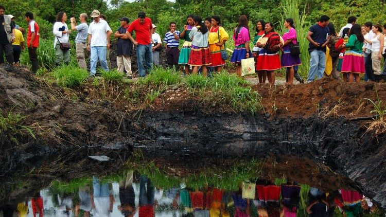 Polluted water in the Amazon rainforest