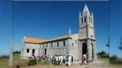 The recently reconstructed Church of St António de Cavungo in Moxico, Angola