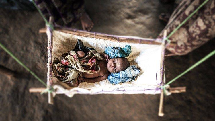 Un bambino della minoranza Rohingya