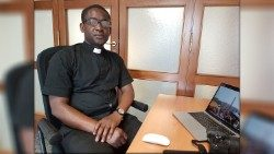 Fr. Peter Okojie in the Vatican Radio/Vatican News offices, Rome, Italy.