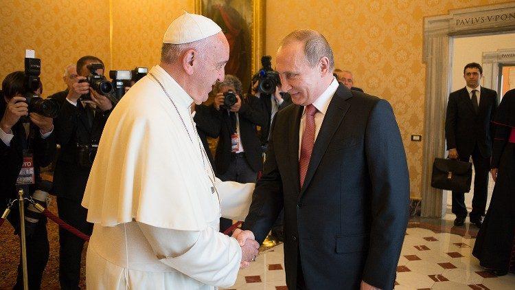 ĐTC Phanxicô gặp Tổng Thống Putin