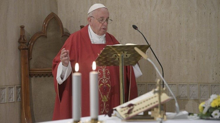 Pope Francis celebrates Mass on Tuesday morning
