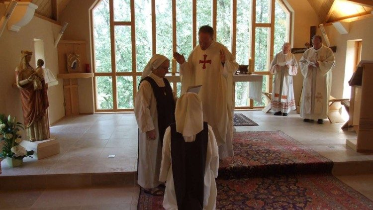 Sister Morgane takes the religious habit