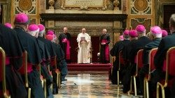 Pope Francis meets Apostolic Nuncios and Permanent Observers in the Clementine Hall