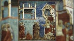 Giotto's depiction of St Francis of Assisi encountering Sultan al-Malik al-K'mall