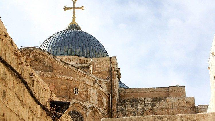 Basíilica do Santo Sepulcro, em Jerusalém