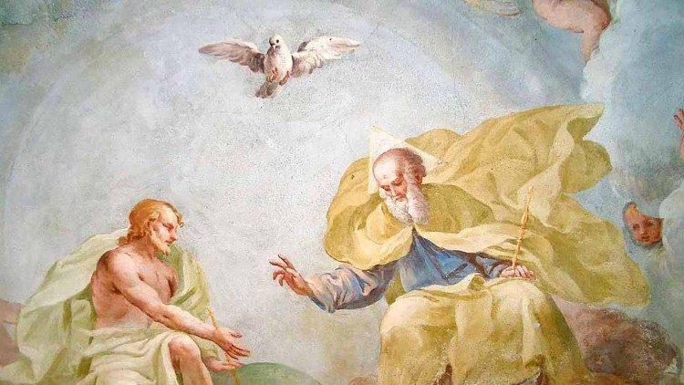 Santíssima Trindade, afresco de Rossetti