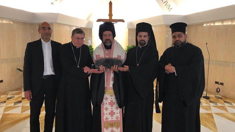 Kardinal Kurt Koch z delegacijo carigrajskega ekumenskega patriarhata v kapeli Doma sv. Marte, 30. junij 2019