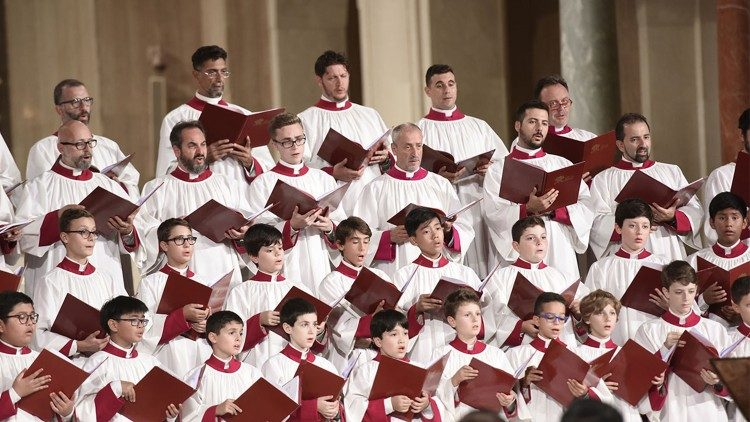 The Choral group of the Sistine Chapel