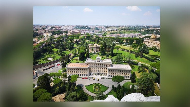 Arial view of Vatican City State