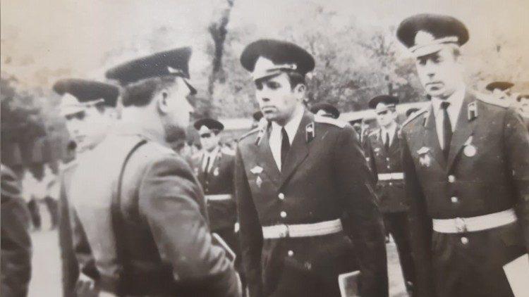 Victor Pogrebnii as an officer in the Soviet Army